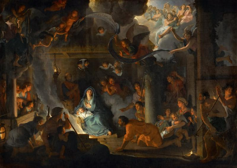Charles Le Brun -- Adoration of the Shepherds