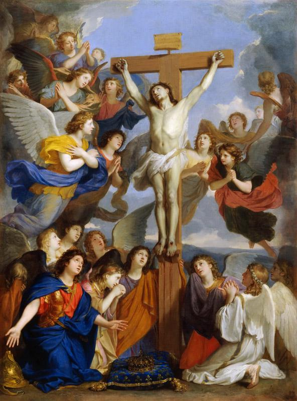 Charles Le Brun -- Crucifixion with Angels