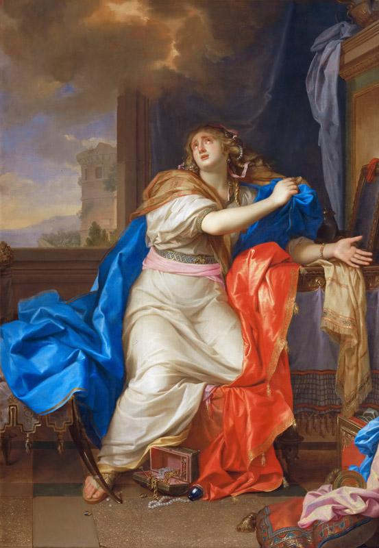 Charles Le Brun -- Saint Mary Magdalen Renounces All Pleasures of Life