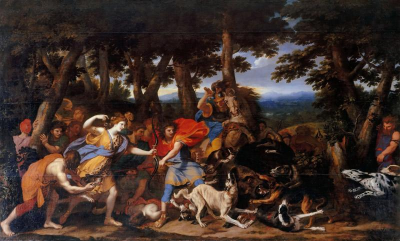 Charles Le Brun, animals attributed to Pieter Boel -- Hunt of Meleager and Atalanta
