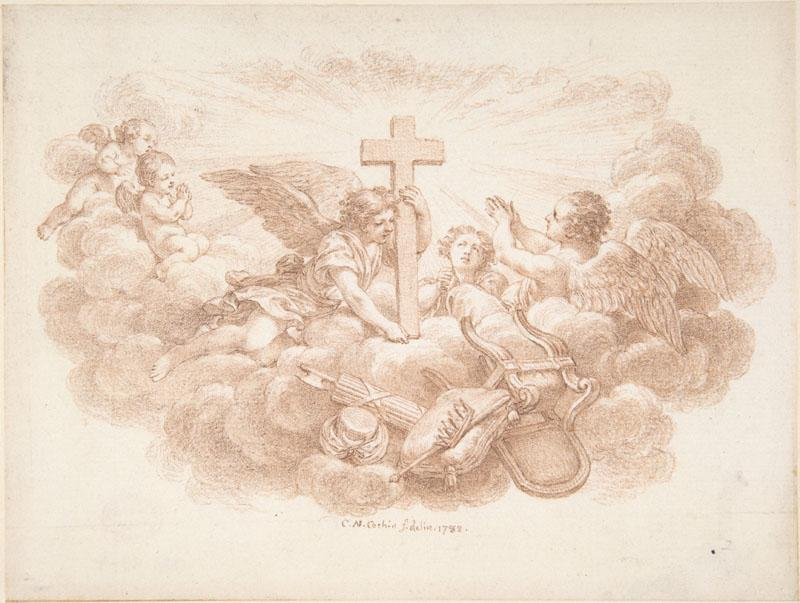 Charles Nicolas Cochin II--The Cross Triumphant over Worldly Powers