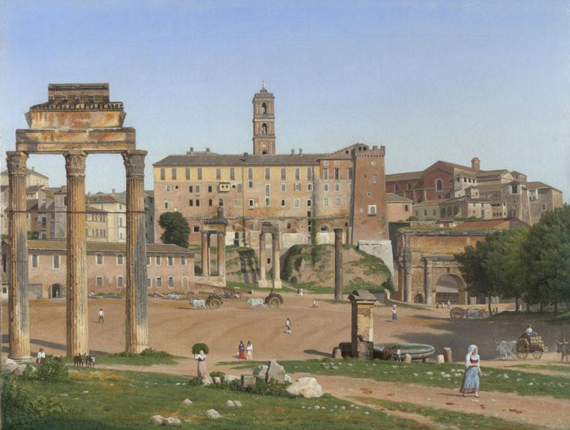Christoffer Wilhelm Eckersberg - View of the Forum in Rome