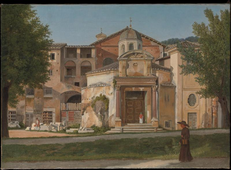 Christoffer Wilhelm Eckersberg--A Section of the Via Sacra, Rome