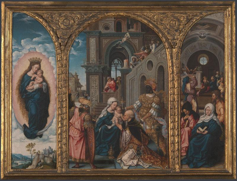 Circle of Jan Gossaert - The Adoration of the Kings
