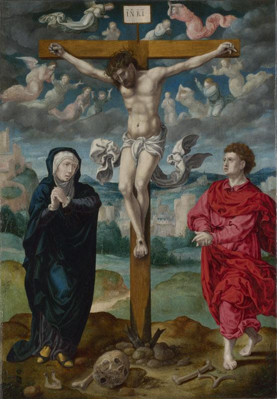 Circle of Pieter Coecke van Aalst - The Crucifixion - Central Panel