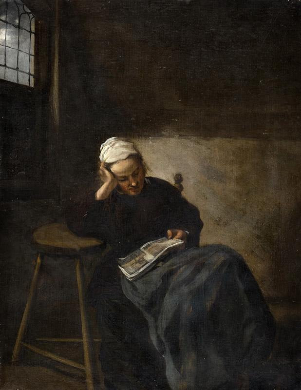 Claes Hals - Girl Reading