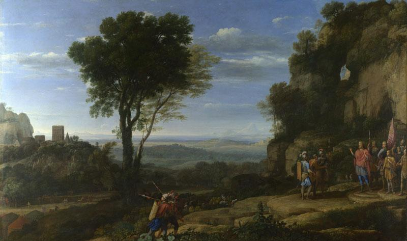 Claude - Landscape with David at the Cave of Adullam