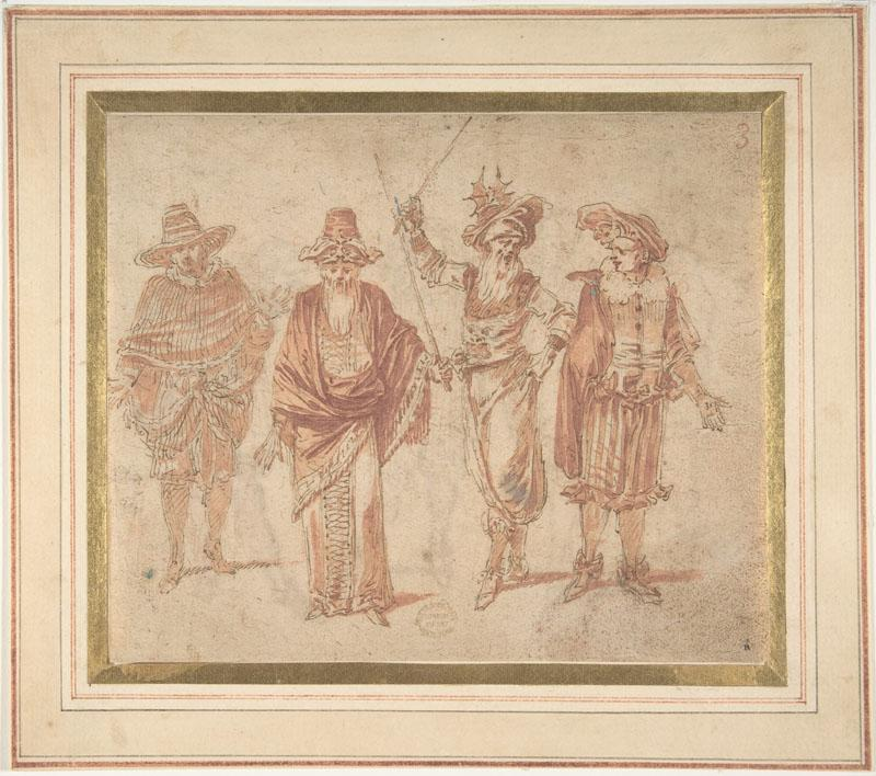 Claude Gillot--Figures in Theatrical Costumes (2)