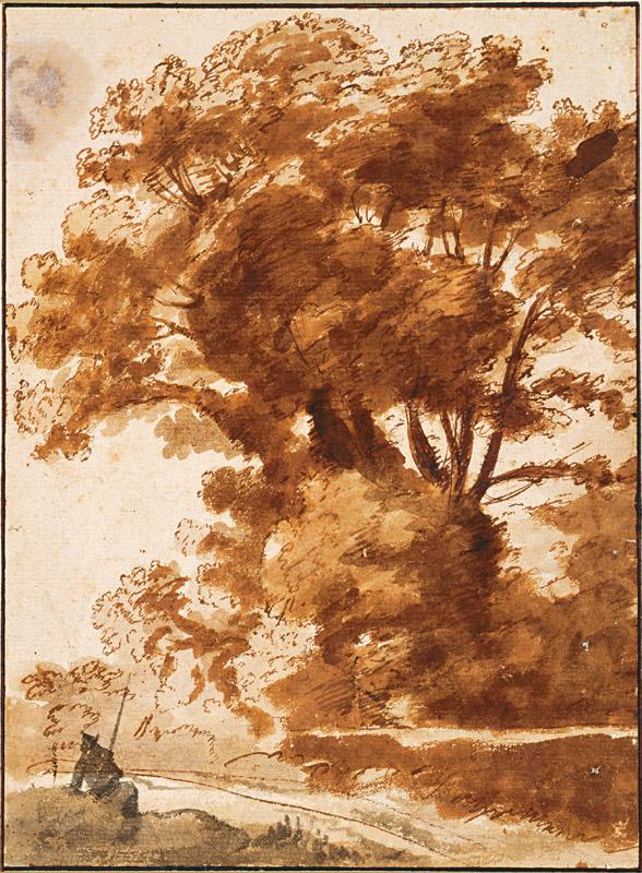 Claude Lorrain (16041605-1682)-Group of Trees and Resting Sheper