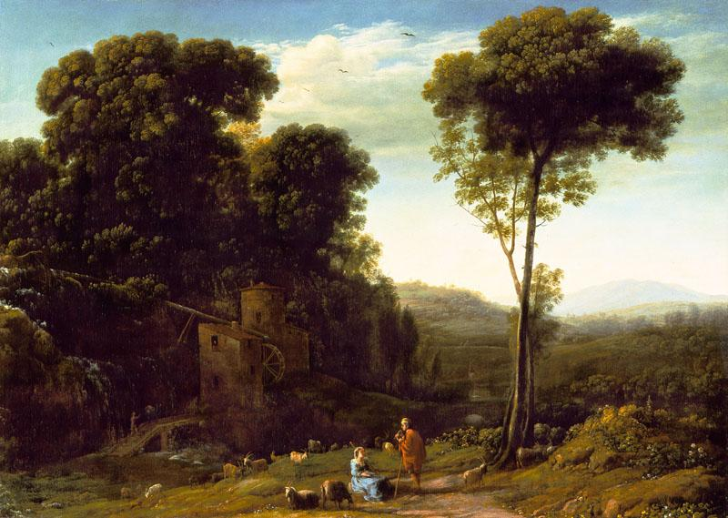 Claude Lorrain - Pastoral Landscape with a Mill