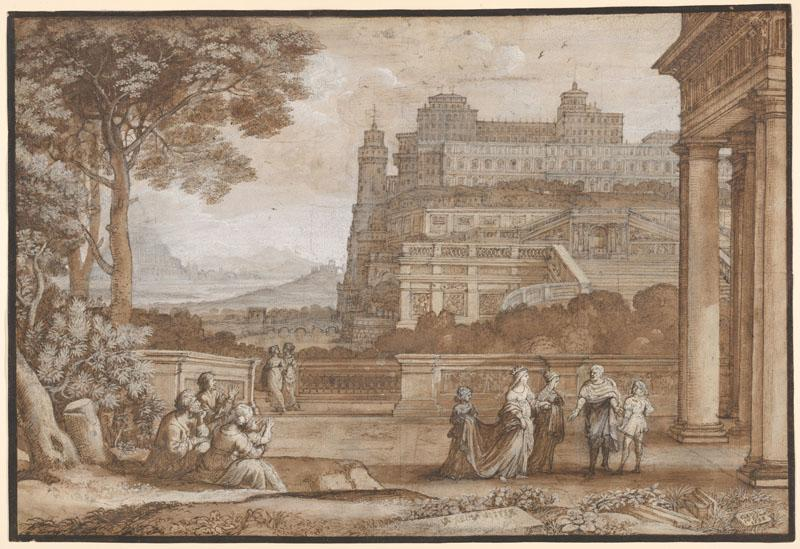 Claude Lorrain--Queen Esther Approaching the Palace of Ahasuerus