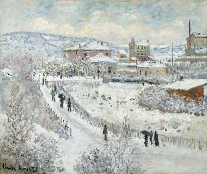 Claude Monet - View of Argenteuil - Snow, 1874-1875