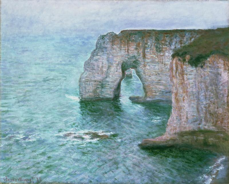 Claude Monet, French, 1840-1926 -- Manne-Porte, etretat