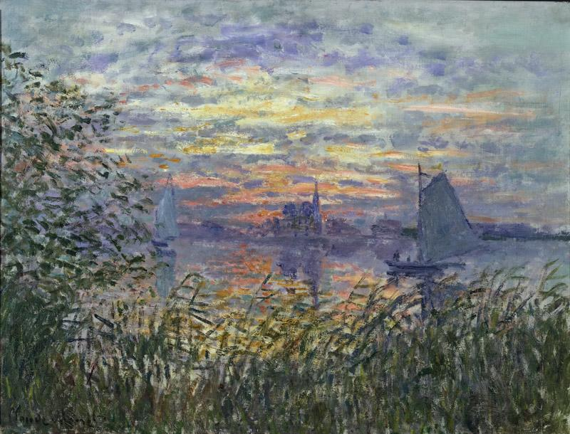 Claude Monet, French, 1840-1926 -- Marine View with a Sunset
