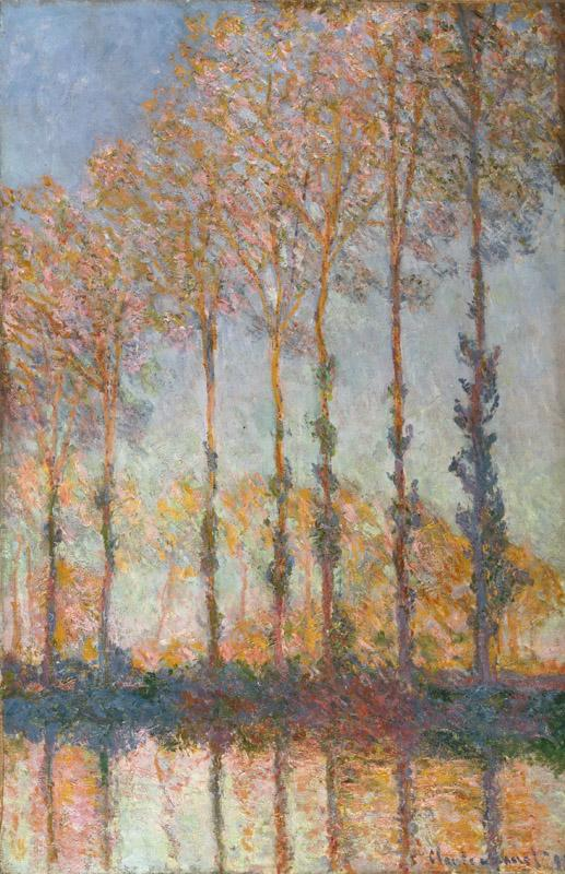 Claude Monet, French, 1840-1926 -- Poplars on the Bank of the Epte River