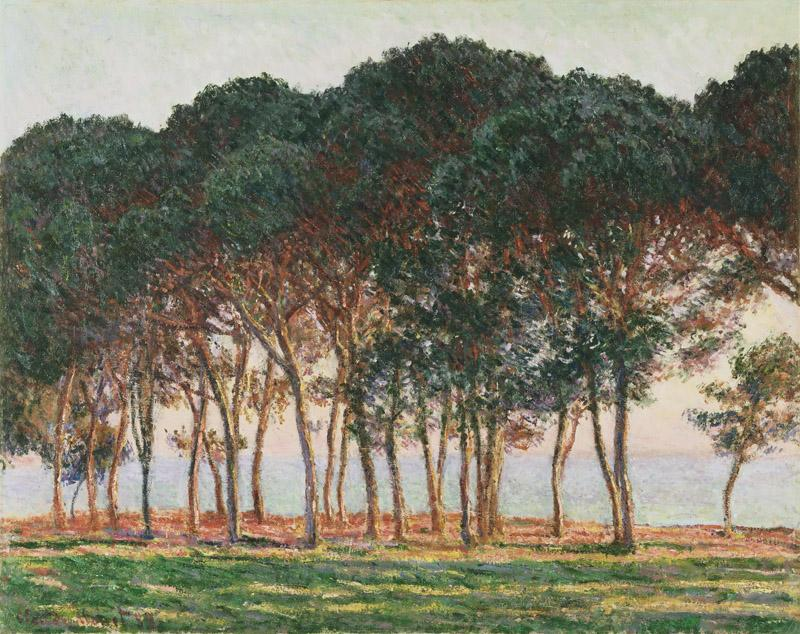 Claude Monet, French, 1840-1926 -- Under the Pines, Evening