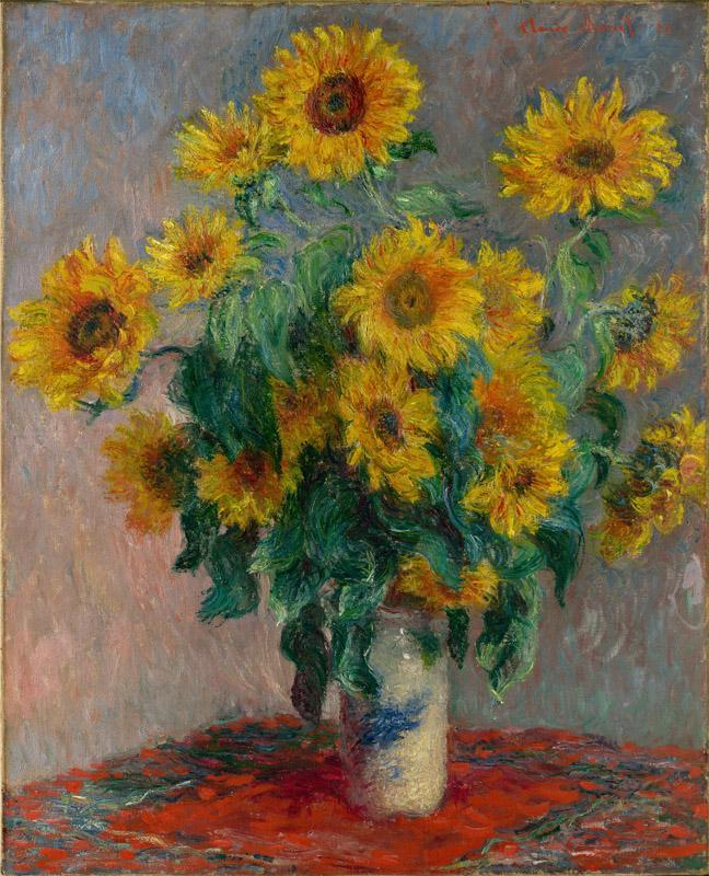 Claude Monet--Bouquet of Sunflowers