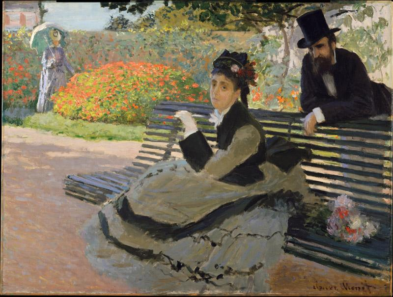 Claude Monet--Camille Monet (1847-1879) on a Garden Bench
