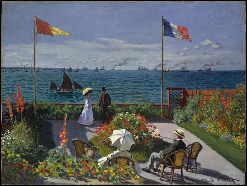Claude Monet--Garden at Sainte-Adresse