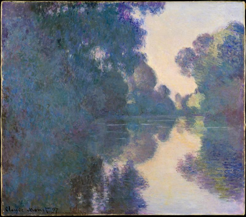 Claude Monet--Morning on the Seine near Giverny