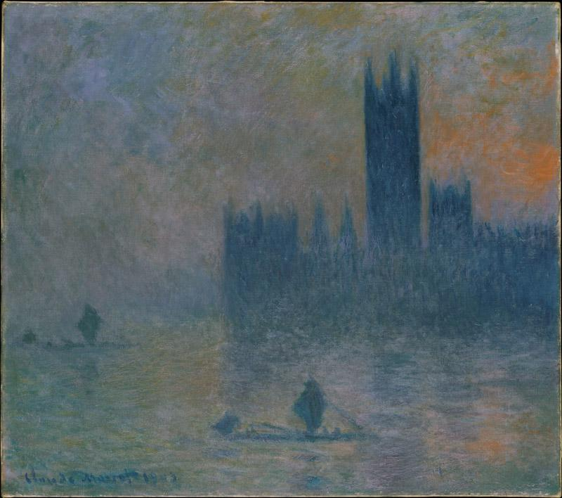 Claude Monet--The Houses of Parliament (Effect of Fog)