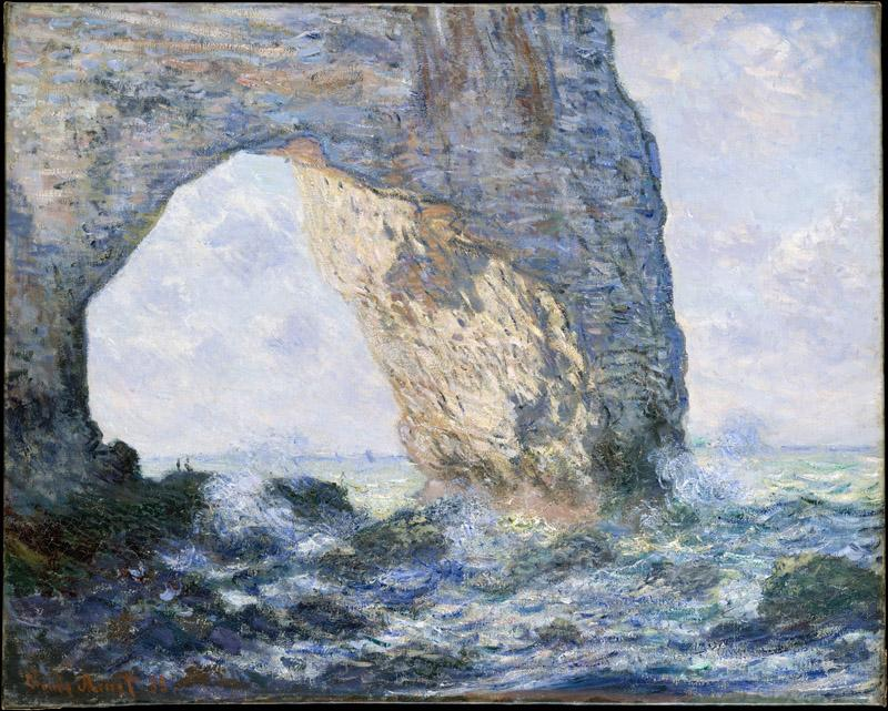 Claude Monet--The Manneporte (etretat)