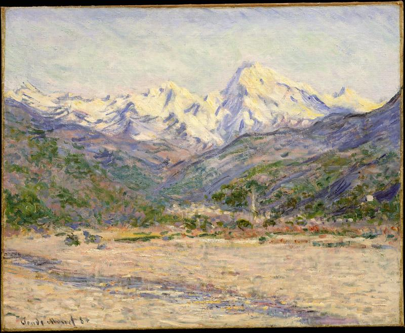 Claude Monet--The Valley of the Nervia