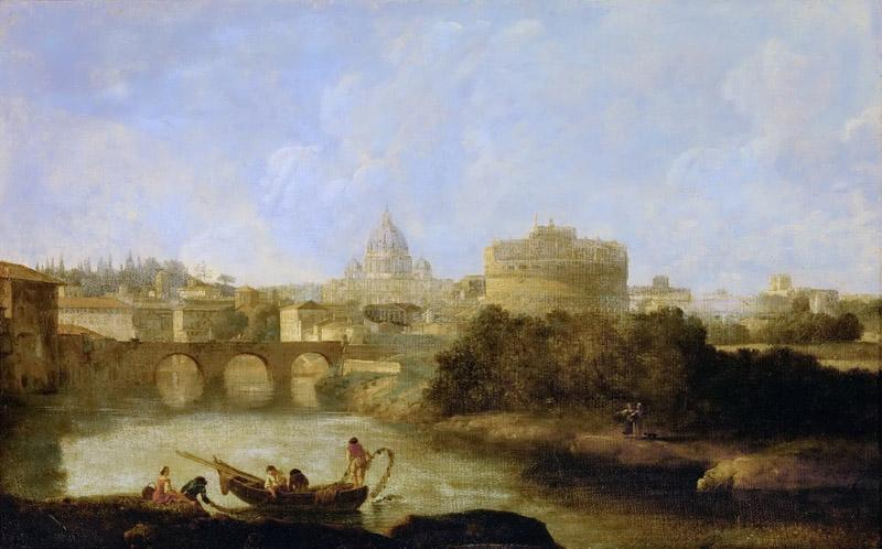 Claude-Joseph Vernet -- Castel Santi Angelo and St