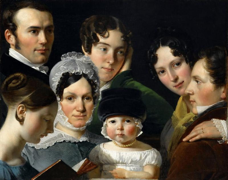 Claude-Marie Dubufe -- The Dubufe family in 1820