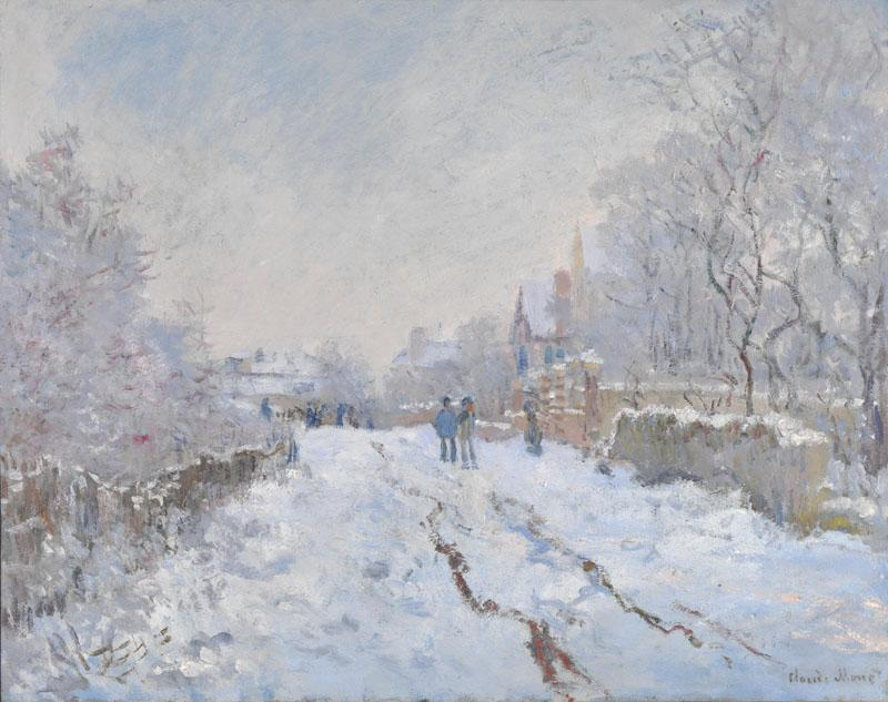 Claude-Oscar Monet - Snow Scene at Argenteuil