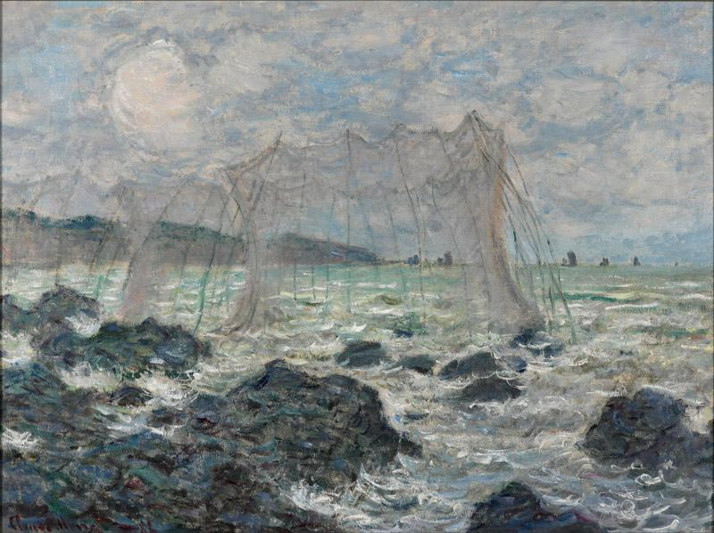 Claude Monet - Fishing nets at Pourville