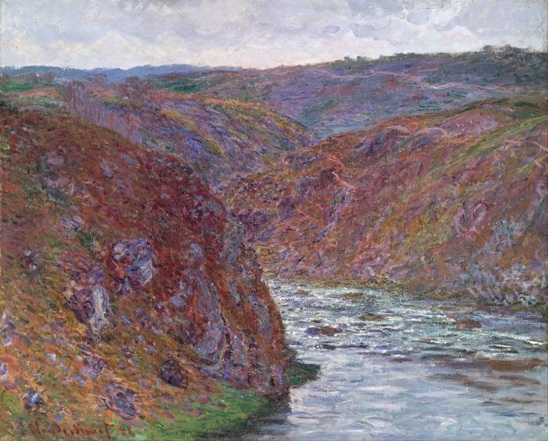 Claude Monet - Valley of the Creuse (Gray Day)