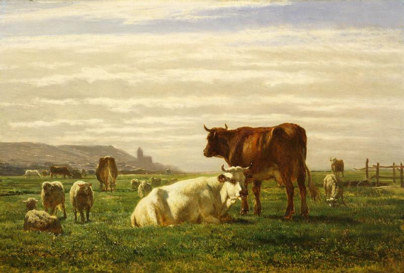Constant Troyon - A Pasture in Normandy, 1850s