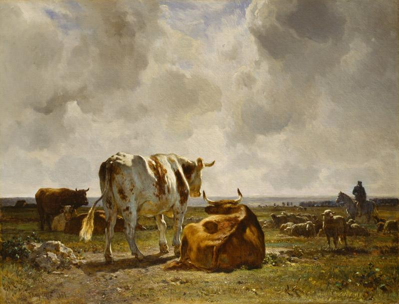 Constant Troyon - Cattle Pasture in the Touraine, 1853