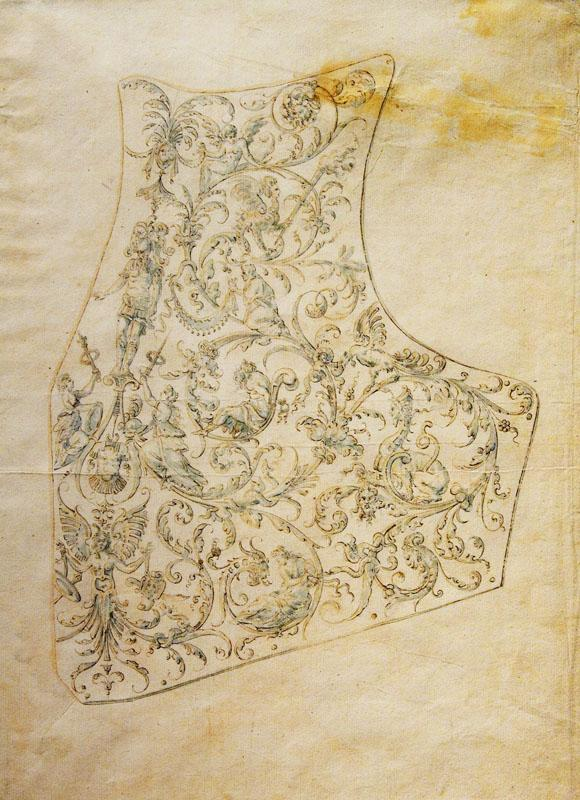 Copy after etienne Delaune--Design for the Breastplate of a Suit of Armor