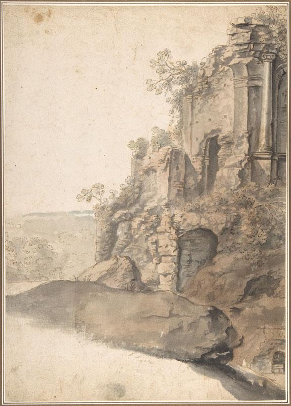 Cornelis van Poelenburch--Landscape with Roman Ruins