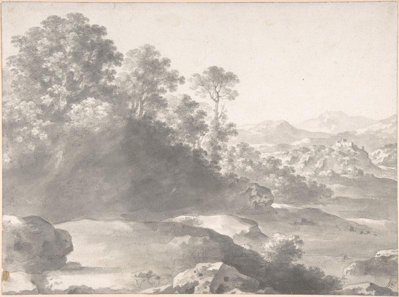 Cornelis van Poelenburch--Those Unacquainted With the Useful Part of Drawing Landscape