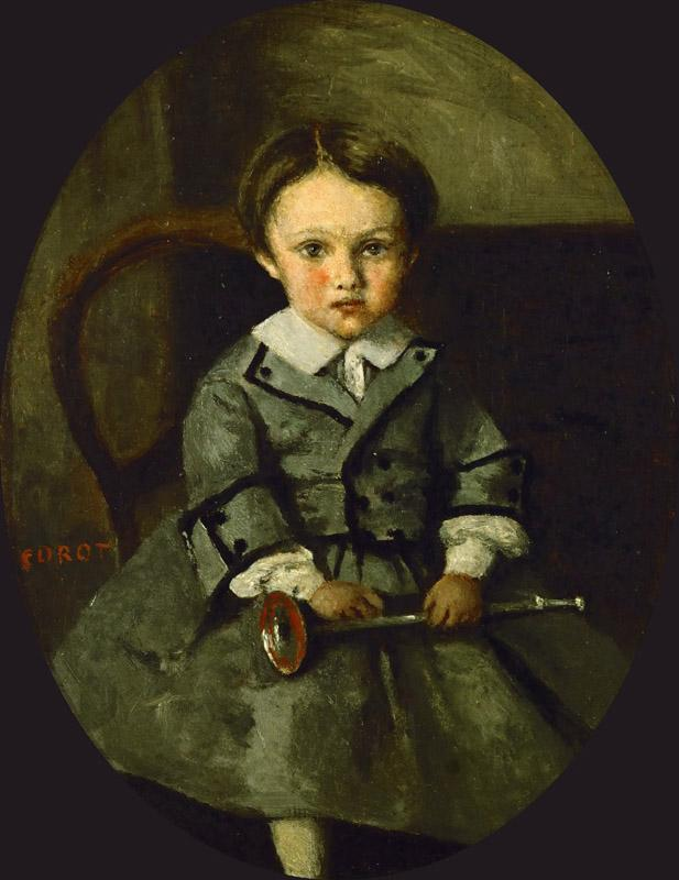 Corot, Jean-Baptiste Camille -- Maurice Robert as a child