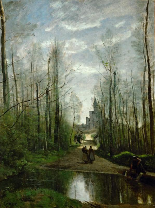 Corot, Jean-Baptiste Camille -- The Church of Marissel