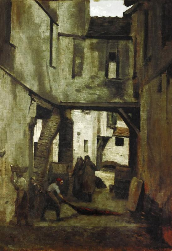 Corot, Jean-Baptiste Camille -- The tanneries of Mantes, France