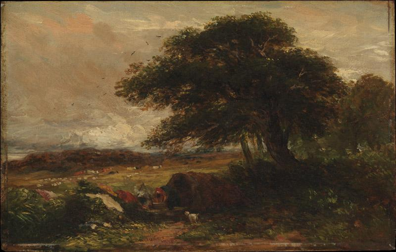 David Cox--Landscape with a Gypsy Tent