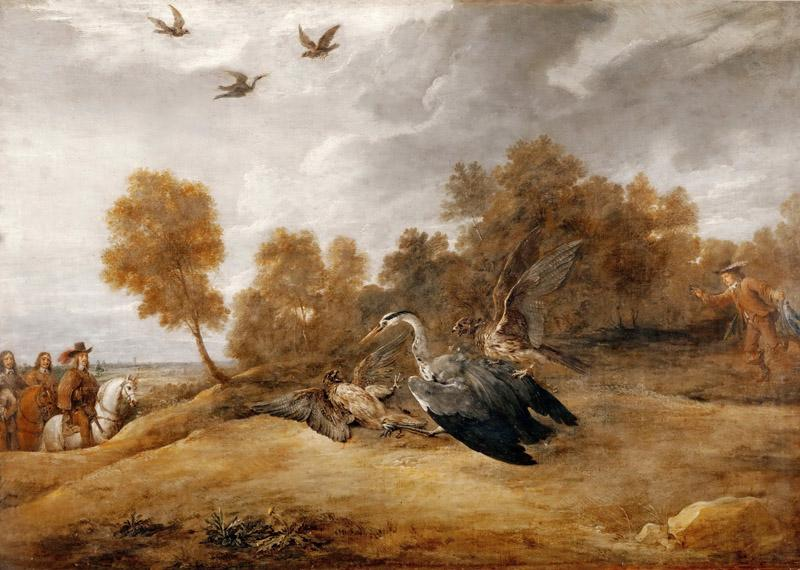 David Teniers II -- Heron Chase with the Archduke Leopold-William