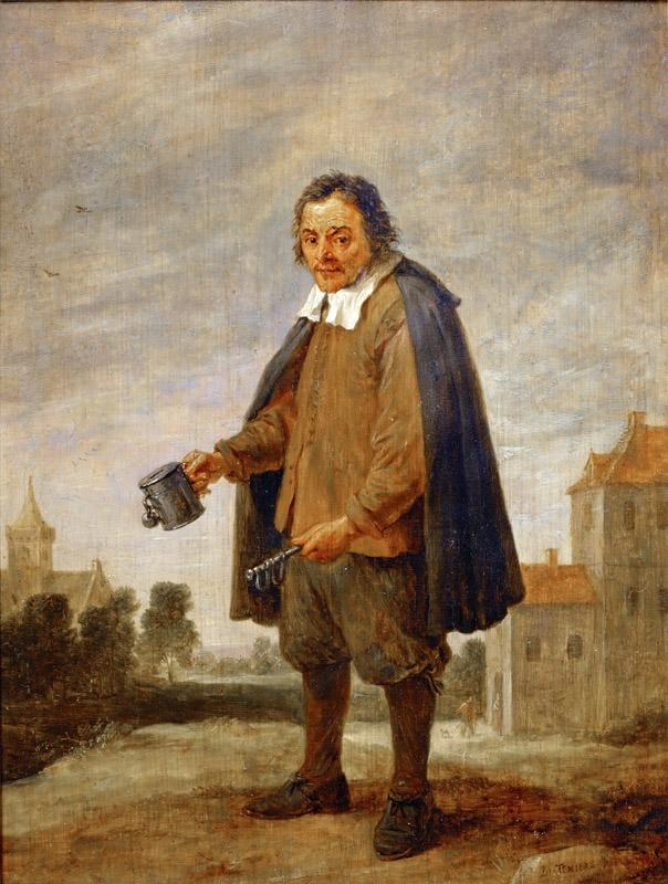 David Teniers II -- Mendicant with a rattle