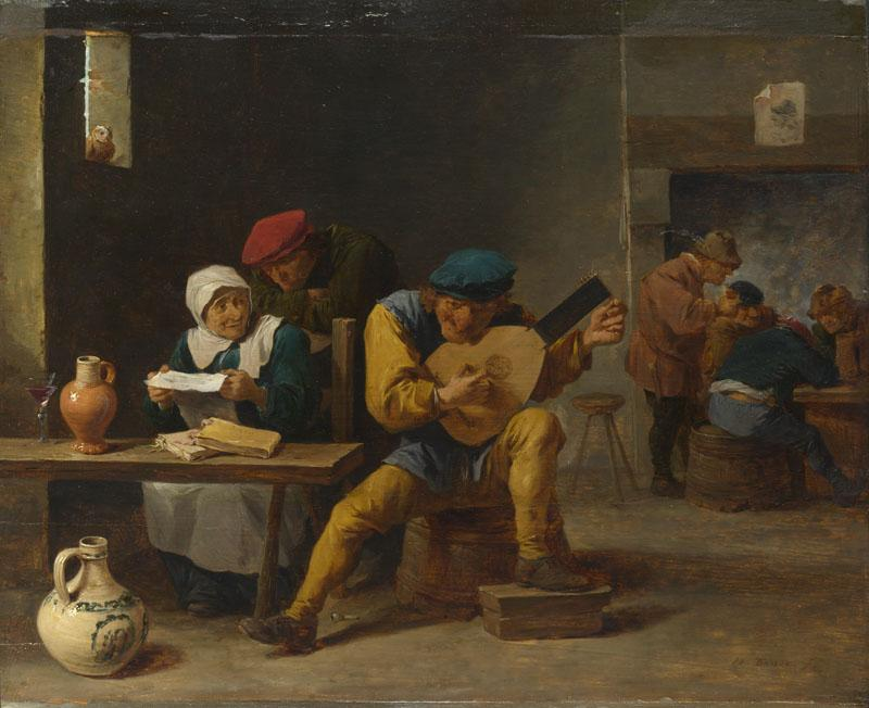 David Teniers the Younger - Peasants making Music in an Inn