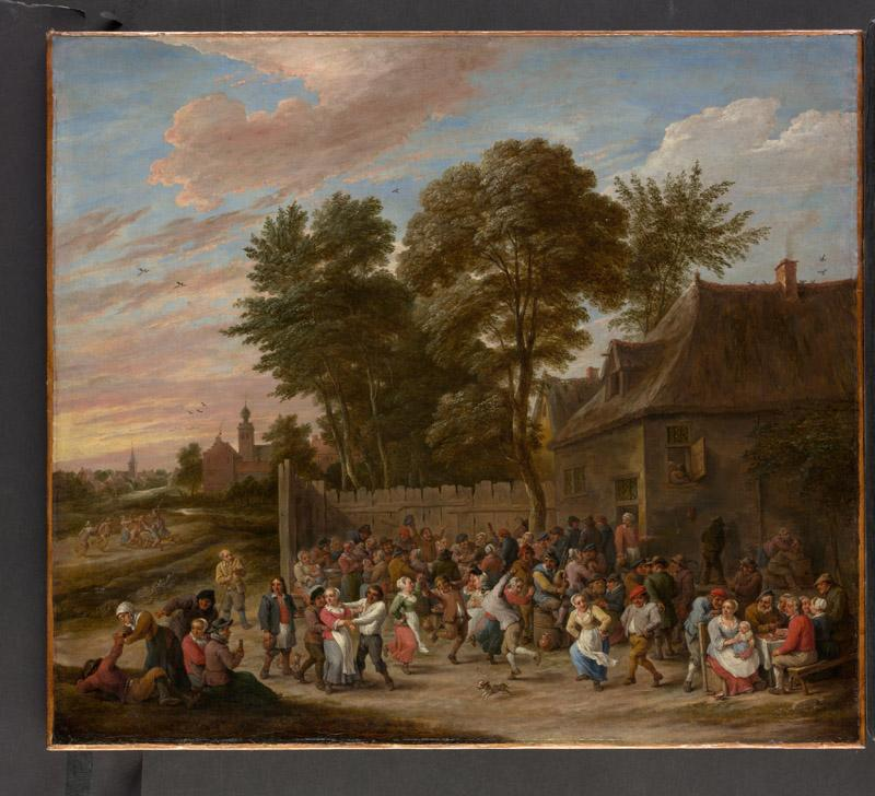 David Teniers the Younger--Peasants Dancing and Feasting