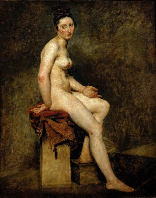 Delacroix, Eugene -- Sitting nude, also called Mlle