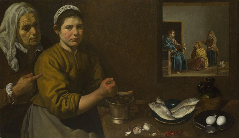 Diego Velazquez - Christ in the House of Martha and Mary