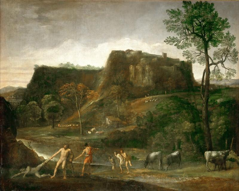 Domenichino -- Hercules drags Cacus from his cave