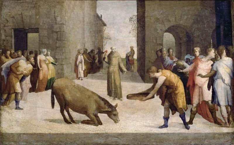 Domenico Beccafumi (1486-1551) -- Saint Anthony of Padua and the Miracle of the Mule