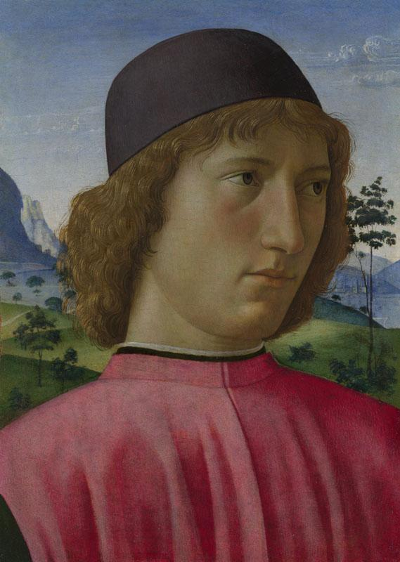 Domenico Ghirlandaio - Portrait of a Young Man in Red